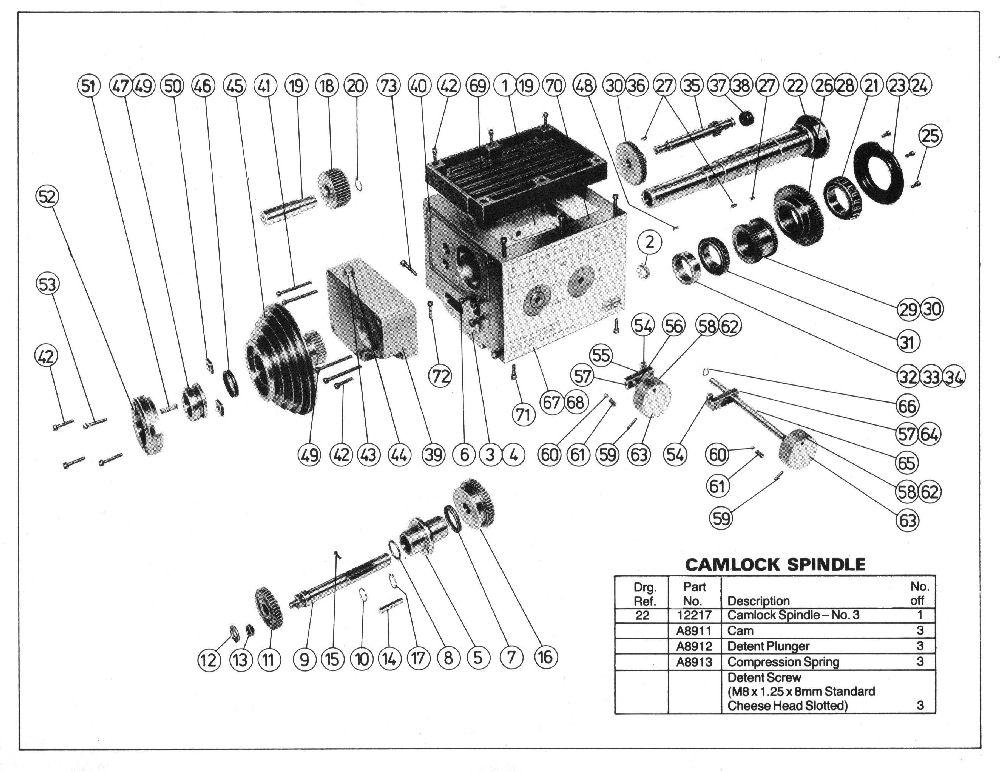 Myford Ltd Exploded Parts Diagram